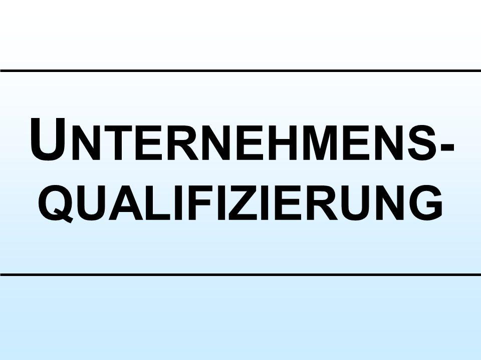 U NTERNEHMENS- QUALIFIZIERUNG