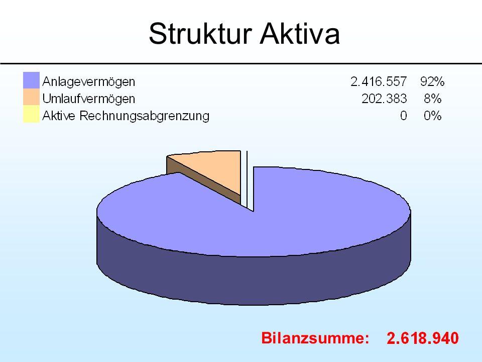 Struktur Aktiva Bilanzsumme: