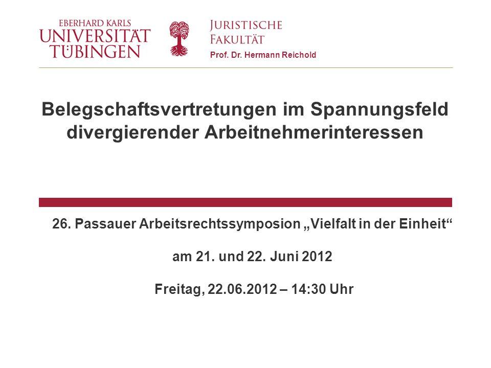 2 | Prof.Dr. Hermann Reichold© 2012 Universität Tübingen Prof.