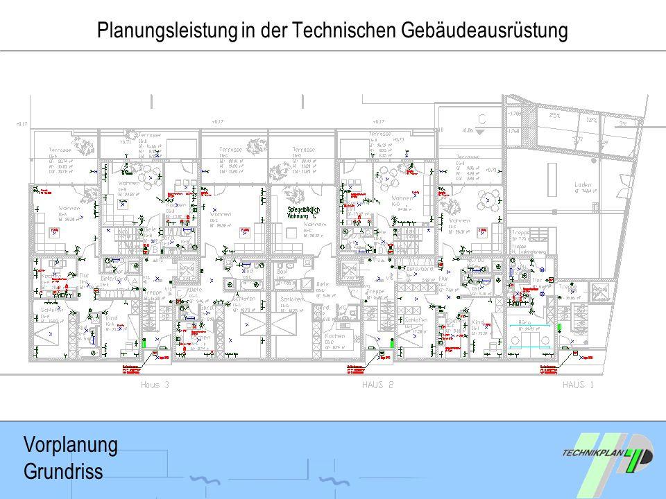 Planungsleistung in der Technischen Gebäudeausrüstung Vorplanung Grundriss