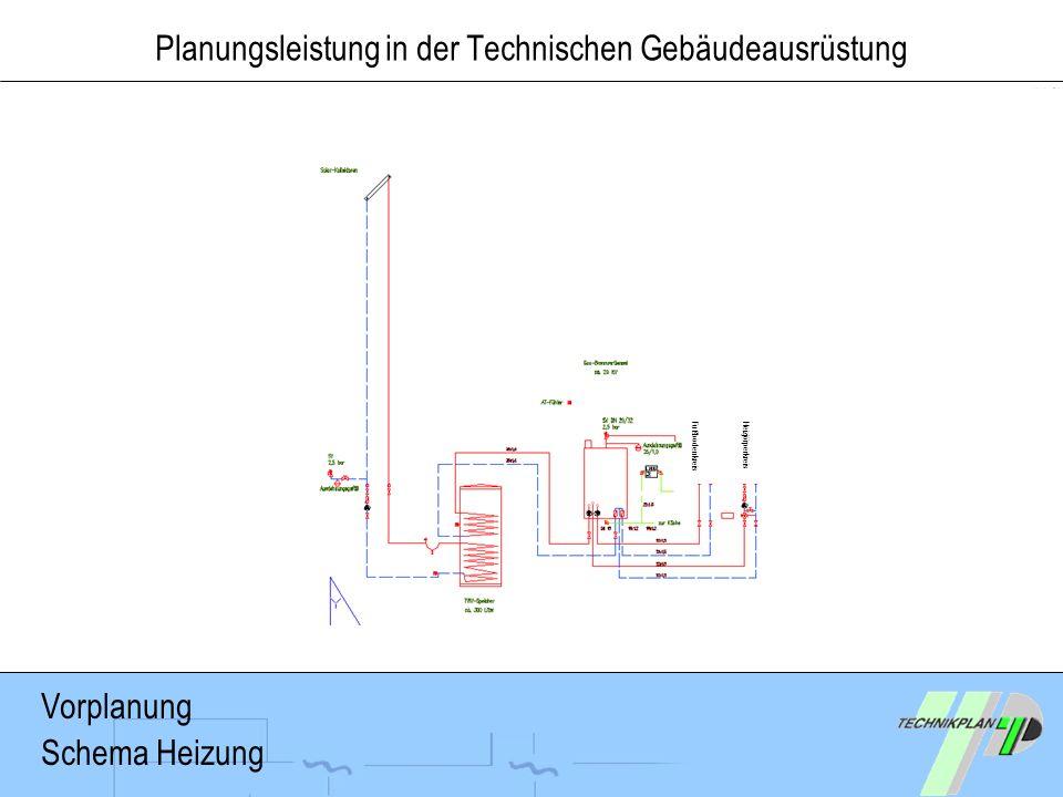 Vorplanung Schema Heizung FußbodenkreisHeizjörperkreis Planungsleistung in der Technischen Gebäudeausrüstung