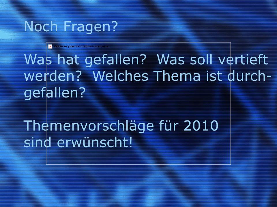 16.Dezember 2009Autor: Walter Riedle Computeria Urdorf Treff vom 16.