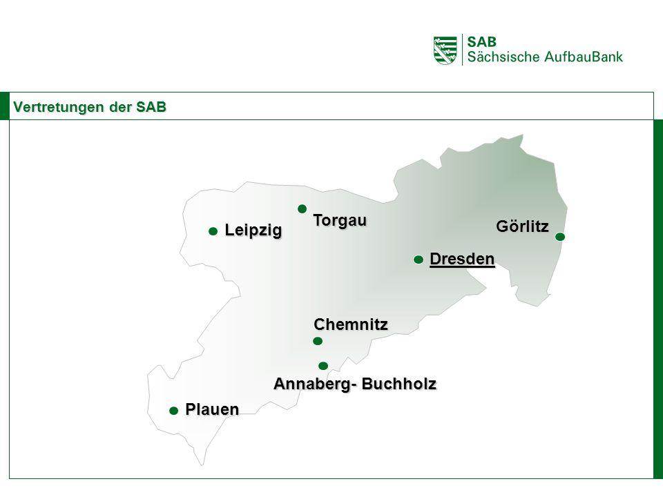 ABCE Vertretungen der SAB Dresden ChemnitzLeipzig PlauenGörlitz Torgau Annaberg- Buchholz