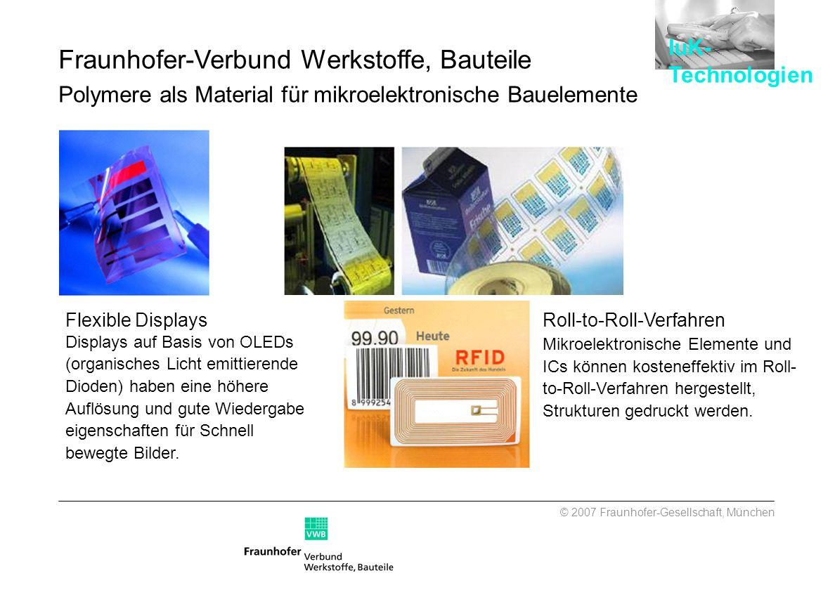 Flexible Displays Displays auf Basis von OLEDs (organisches Licht emittierende Dioden) haben eine höhere Auflösung und gute Wiedergabe eigenschaften f
