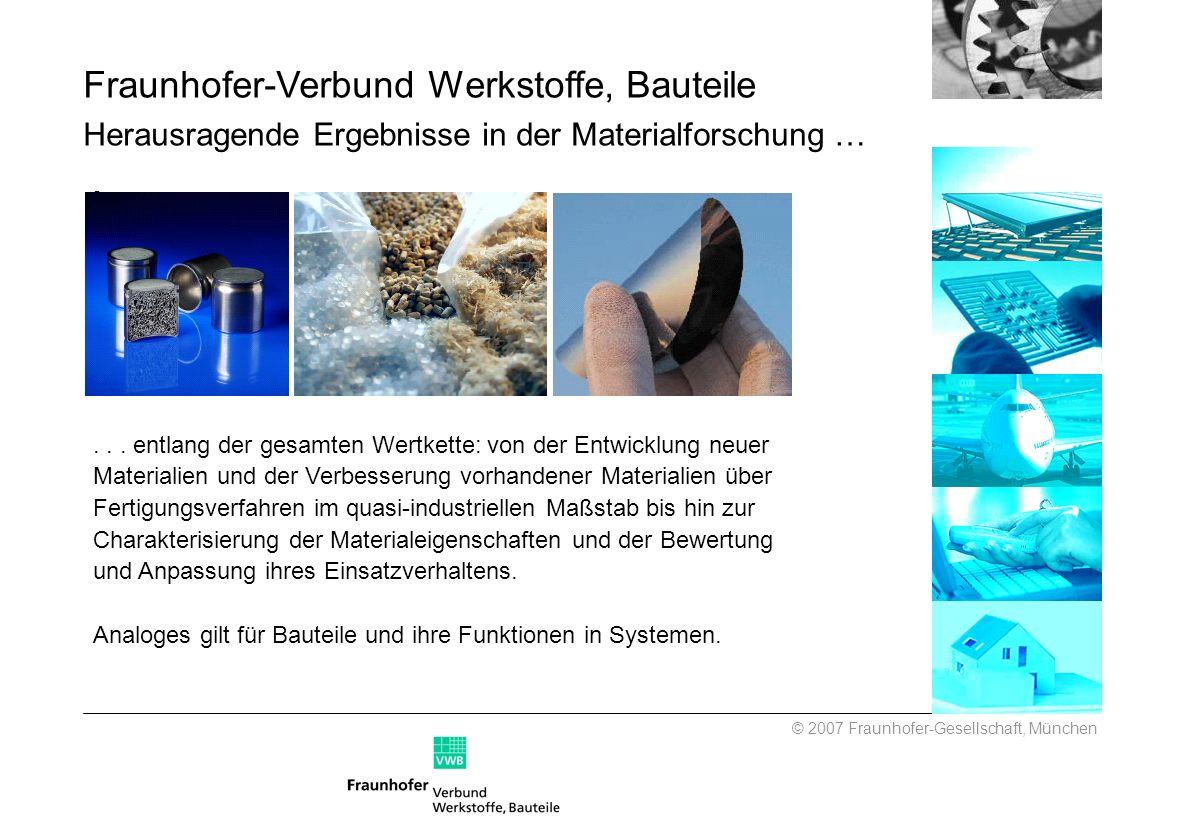 ... entlang der gesamten Wertkette: von der Entwicklung neuer Materialien und der Verbesserung vorhandener Materialien über Fertigungsverfahren im qua