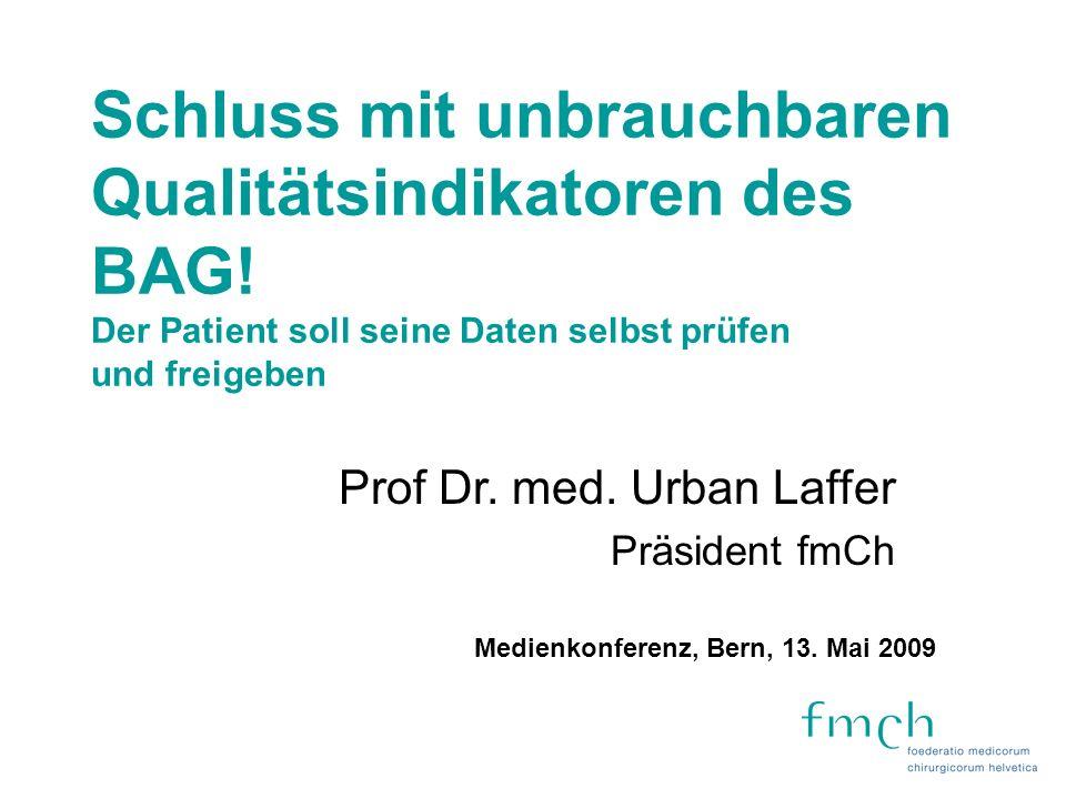 Pilotstudie des BAG 26 Kliniken Mortalitätszahlen Fallzahlen Datenmaterial des Bundesamtes für Statistik Konzept der deutschen Privatkliniken HELIOS