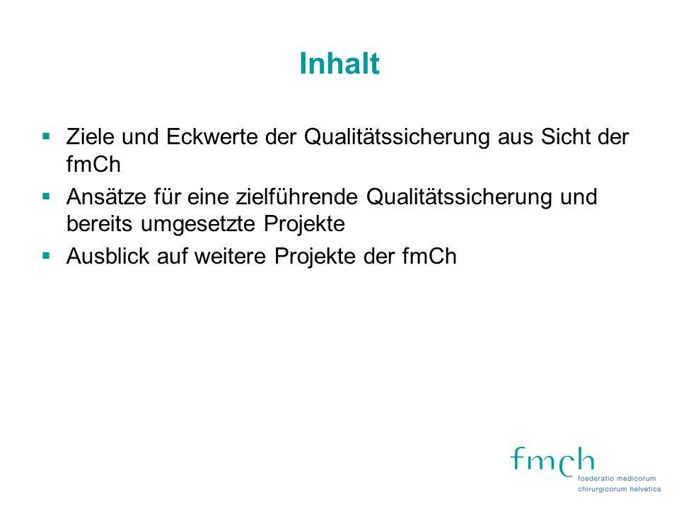 fmCh QualiBench AQC- Erhebung ASF- Erhebung andere Erhebung fmCh QualiBench Gemeinsamer Datensatz für alle Fachgesellschaften