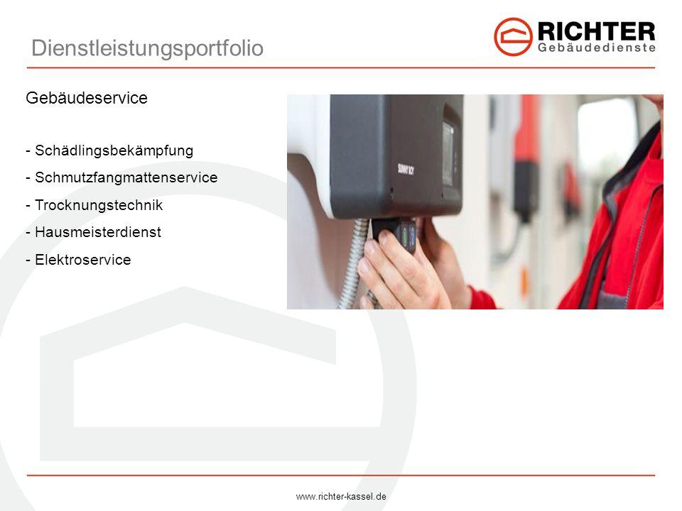 Dienstleistungsportfolio Gebäudeservice - Schädlingsbekämpfung - Schmutzfangmattenservice - Trocknungstechnik - Hausmeisterdienst - Elektroservice www