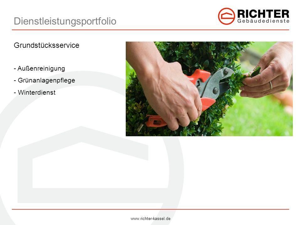 Dienstleistungsportfolio Grundstücksservice - Außenreinigung - Grünanlagenpflege - Winterdienst www.richter-kassel.de