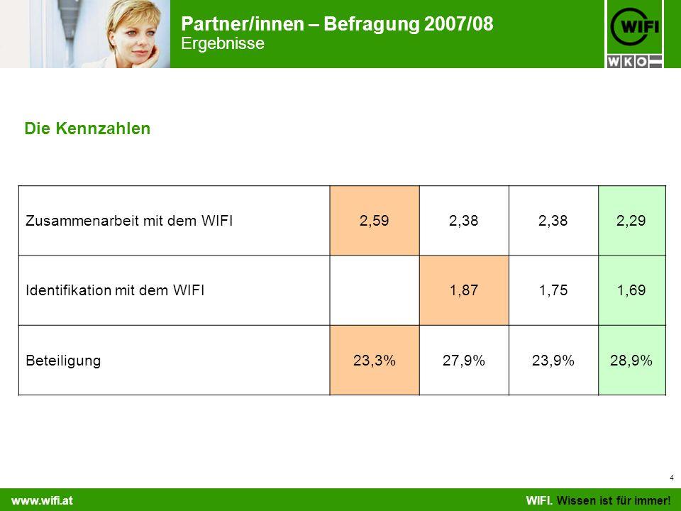 Partner/innen – Befragung 2007/08 Ergebnisse WIFI.