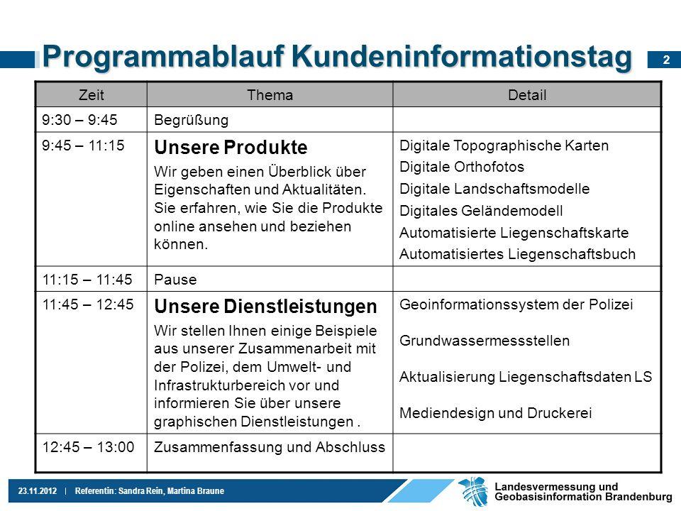 13 23.11.2012Referentin: Sandra Rein, Martina Braune Liegenschaftsbuch Gemarkung, Flur, Flurstück Lage; Straße + Hausnr.
