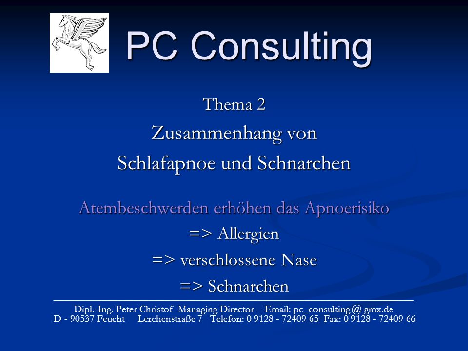 PC Consulting _____________________________________________________________________ Dipl.-Ing. Peter Christof Managing Director Email: pc_consulting @