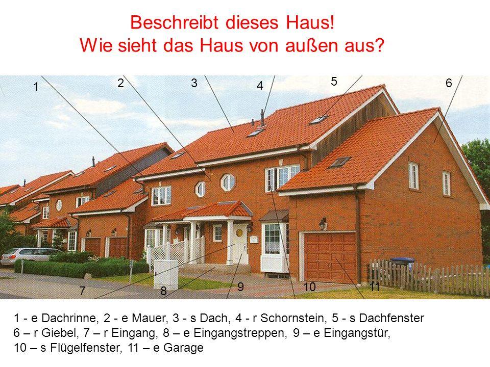 Jeder Mensch braucht ein Dach über dem Kopf Was gehört noch zu einem Haus.