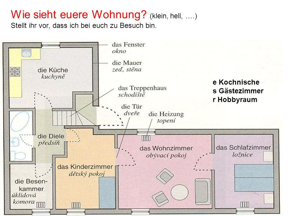 e Kochnische s Gästezimmer r Hobbyraum Wie sieht euere Wohnung.