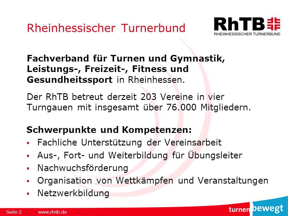Rheinhessischer Turnerbund Fachverband für Turnen und Gymnastik, Leistungs-, Freizeit-, Fitness und Gesundheitssport in Rheinhessen.