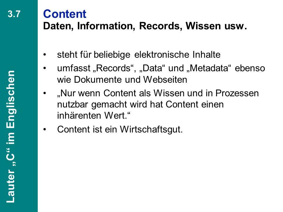 46 CIO Dialog Von ECM zu EIM Dr. Ulrich Kampffmeyer PROJECT CONSULT Unternehmensberatung Dr. Ulrich Kampffmeyer GmbH Breitenfelder Straße 17 20251 Ham