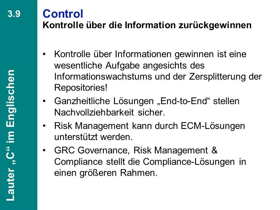48 CIO Dialog Von ECM zu EIM Dr. Ulrich Kampffmeyer PROJECT CONSULT Unternehmensberatung Dr. Ulrich Kampffmeyer GmbH Breitenfelder Straße 17 20251 Ham