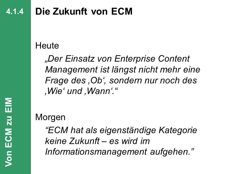 57 CIO Dialog Von ECM zu EIM Dr. Ulrich Kampffmeyer PROJECT CONSULT Unternehmensberatung Dr. Ulrich Kampffmeyer GmbH Breitenfelder Straße 17 20251 Ham
