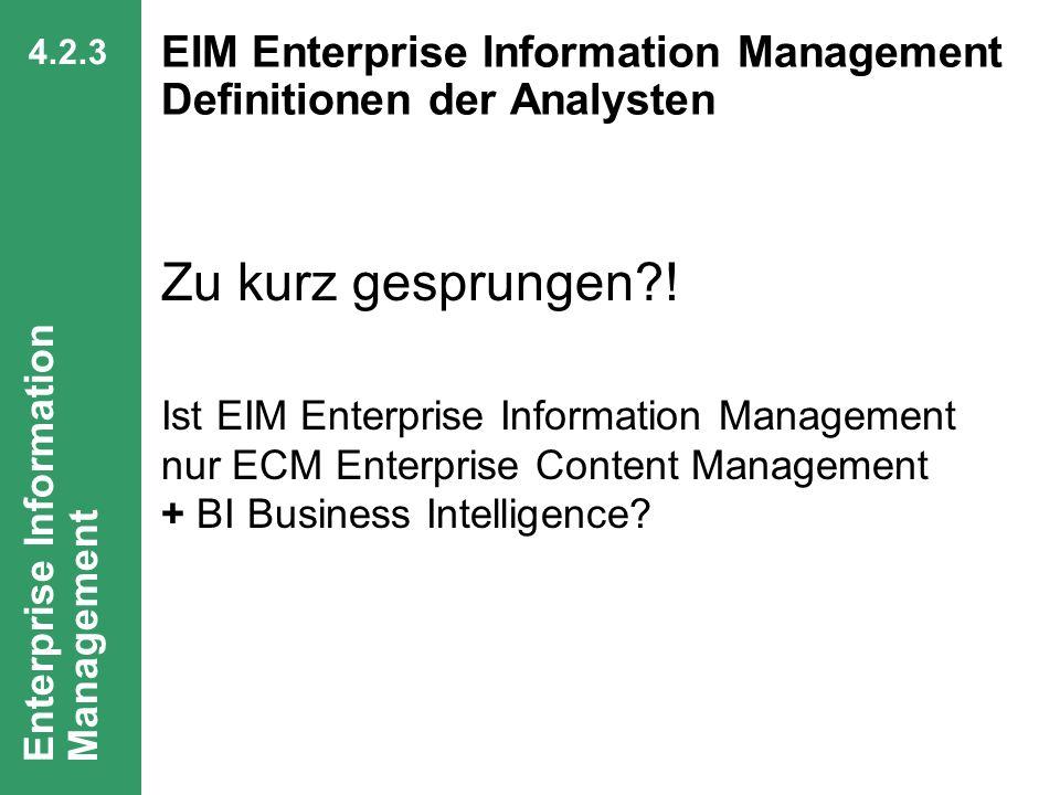 62 CIO Dialog Von ECM zu EIM Dr. Ulrich Kampffmeyer PROJECT CONSULT Unternehmensberatung Dr. Ulrich Kampffmeyer GmbH Breitenfelder Straße 17 20251 Ham