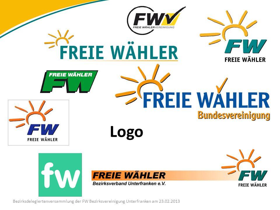 Logo Bezirksdelegiertenversammlung der FW Bezirksvereinigung Unterfranken am 23.02.2013