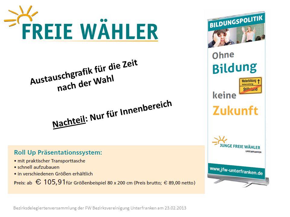 Bezirksdelegiertenversammlung der FW Bezirksvereinigung Unterfranken am 23.02.2013