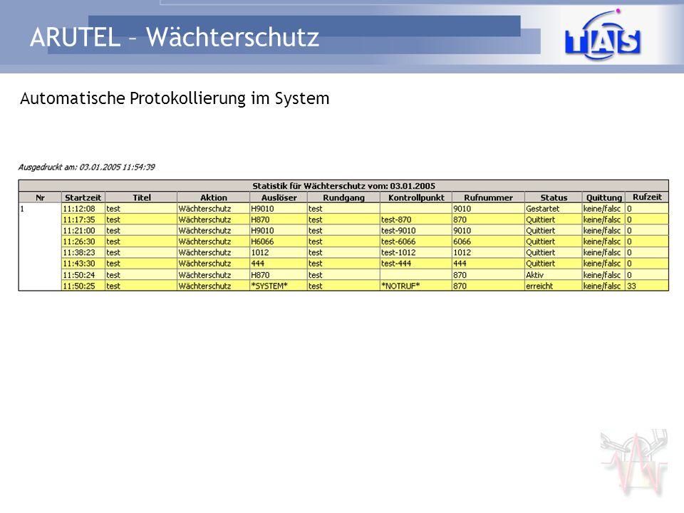 ARUTEL – Wächterschutz Mit Sicherheit ein Stück voraus...