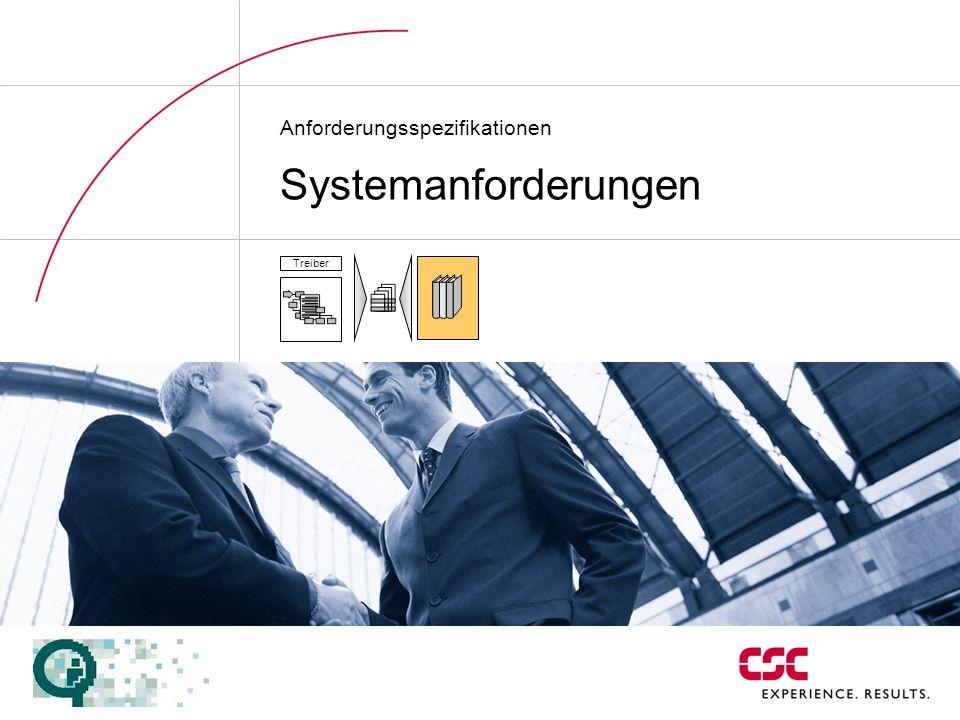 Anforderungsspezifikationen Systemanforderungen Treiber