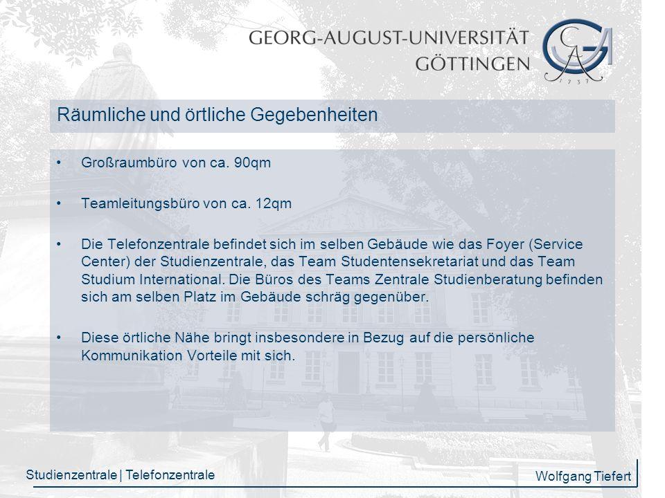Wolfgang Tiefert Studienzentrale | Telefonzentrale Anruf- und E-Mail Entwicklung von 2005 bis 2007