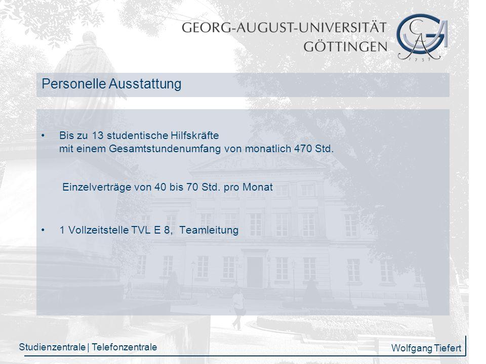 Wolfgang Tiefert Studienzentrale | Telefonzentrale GCCS Datenbank Gesprächserfassung