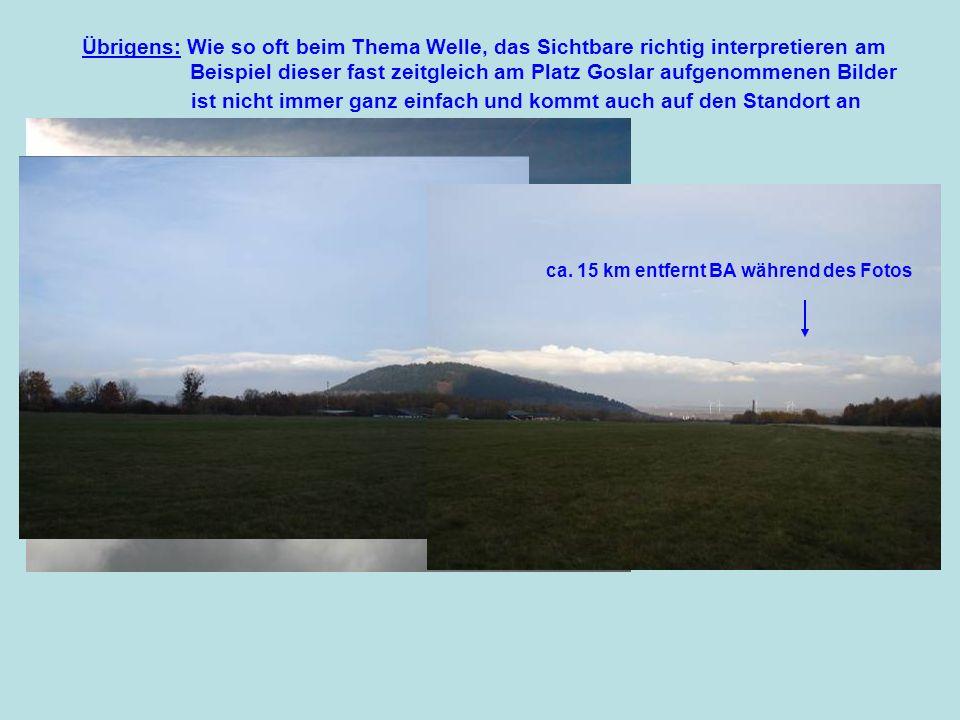 Das Gebiet Harz - Ith/Gandersheim - Solling – Meißner -Thüringerwald bei einer typischen SW-Lage hier in der Darstellung bei Cosmo.de Erflogene Wellensysteme Ca.