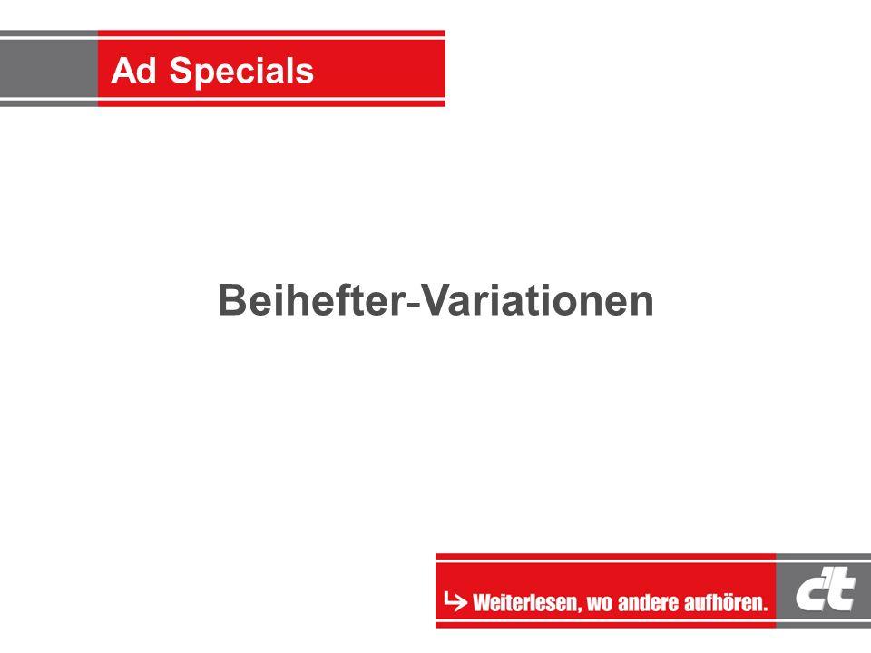 Ad-Specials Beihefter - Variationen Ad Specials