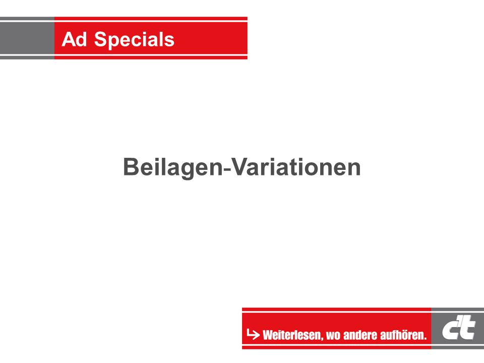 Ad-Specials Beilagen - Variationen Ad Specials