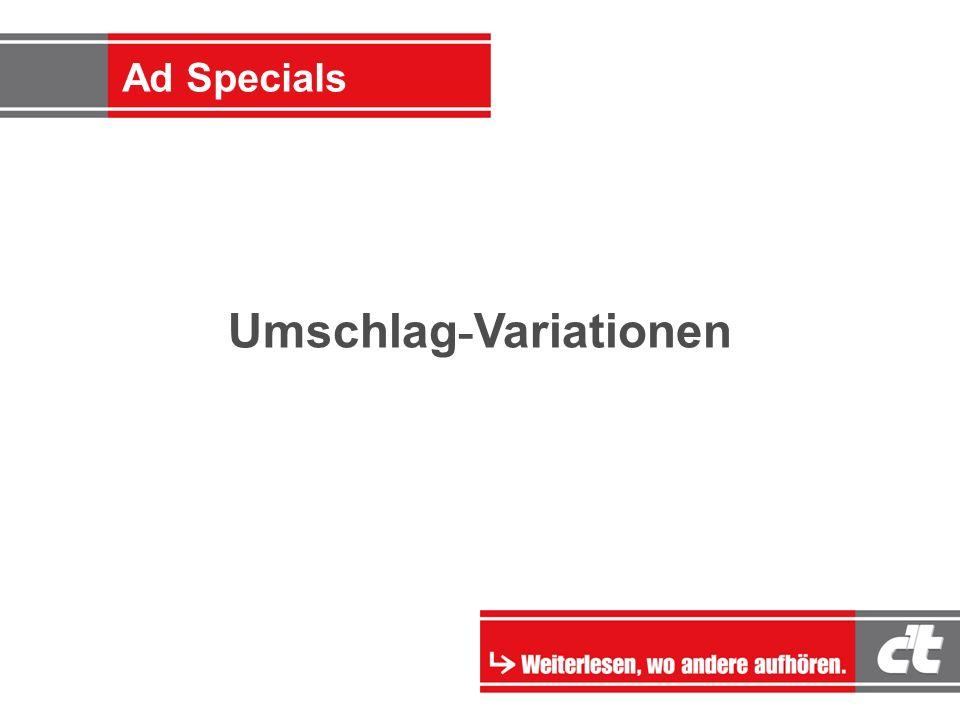 Ad-Specials Umschlag - Variationen Ad Specials