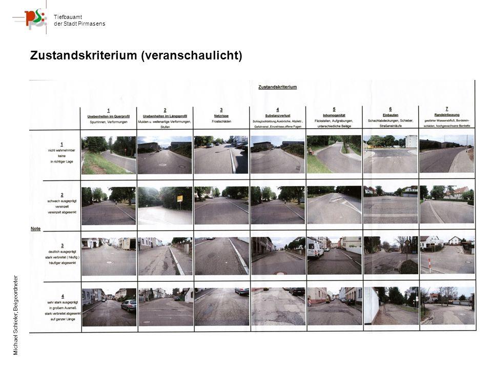 Tiefbauamt der Stadt Pirmasens Michael Schieler, Beigeordneter Zustandskriterium (veranschaulicht)