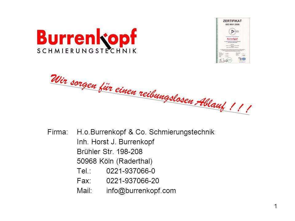 Firma: H.o.Burrenkopf & Co.Schmierungstechnik Inh.