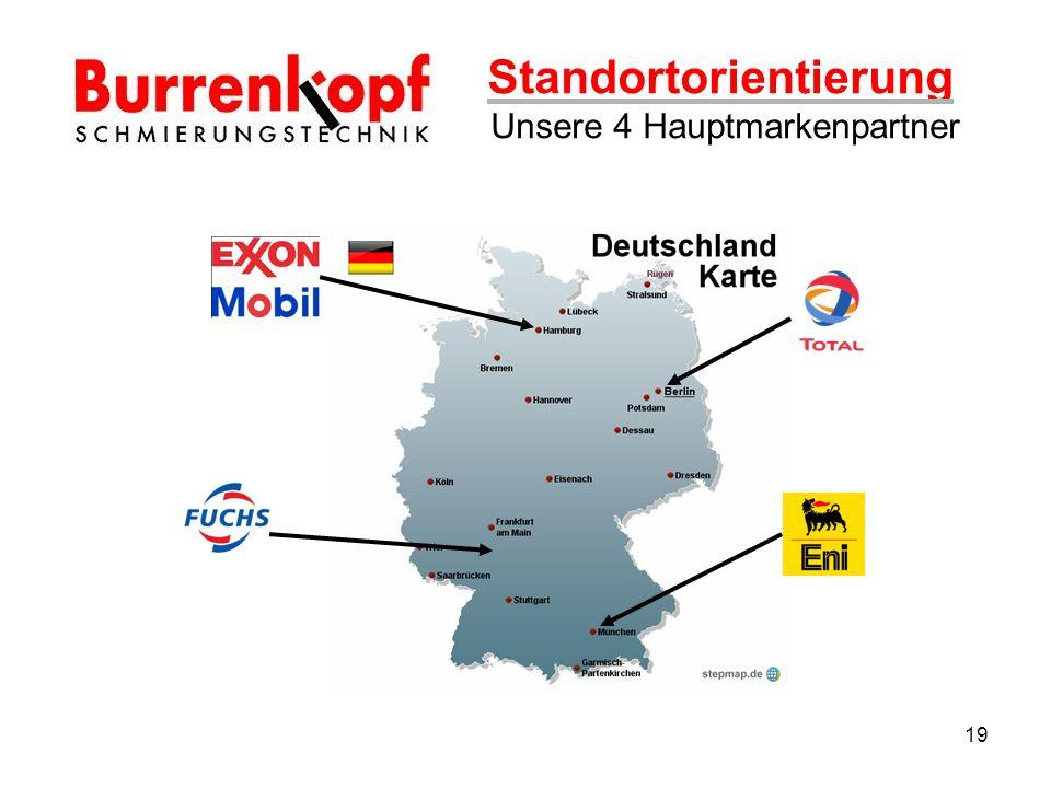 Standortorientierung Unsere 4 Hauptmarkenpartner 19