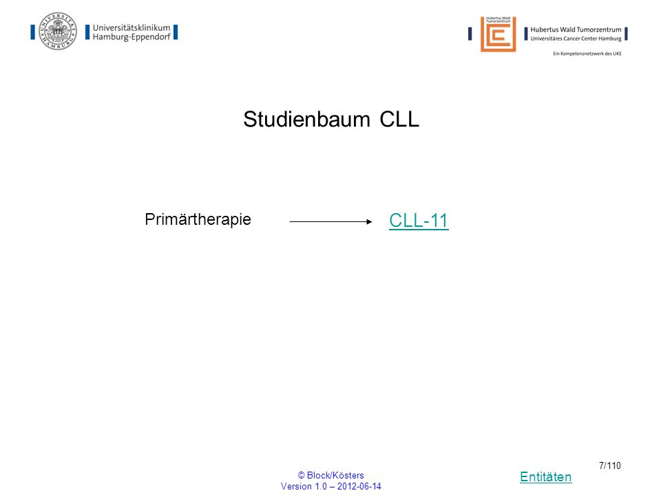 Entitäten © Block/Kösters Version 1.0 – 2012-06-14 78/110 GIMEMA Phase III study of chemotherapy in combination with ATRA with or without gemtuzumab ozogamicin in patients with acute myeloid leukemia and NPM1 gene mutation.