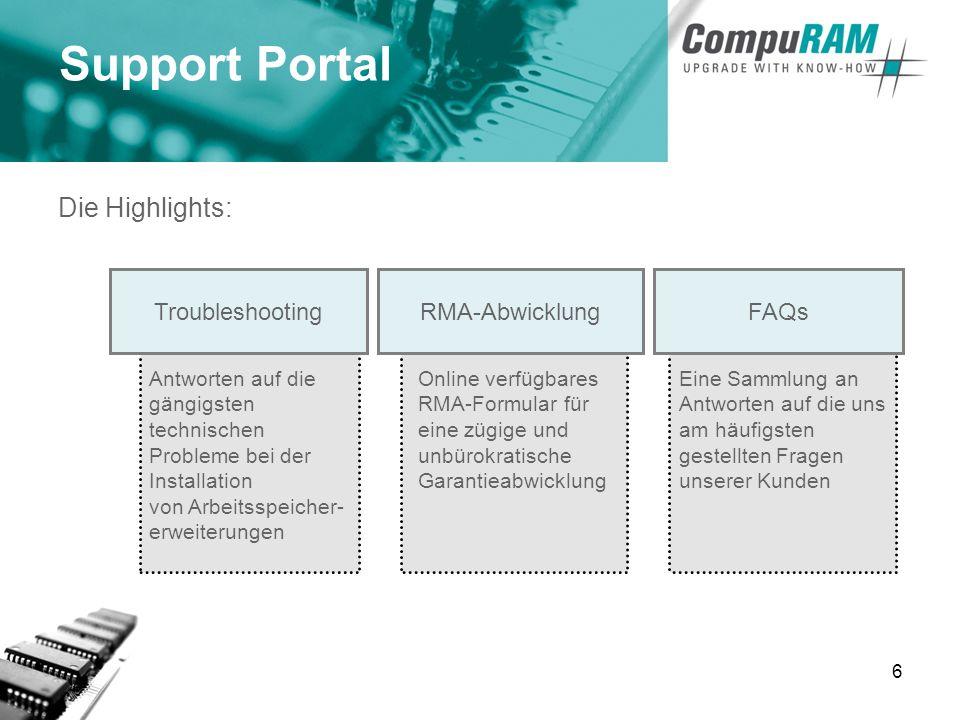 7 Unser Newsletter Seit Februar 2005 verschicken wir an unsere Kunden unseren CompuRAM Newsletter.