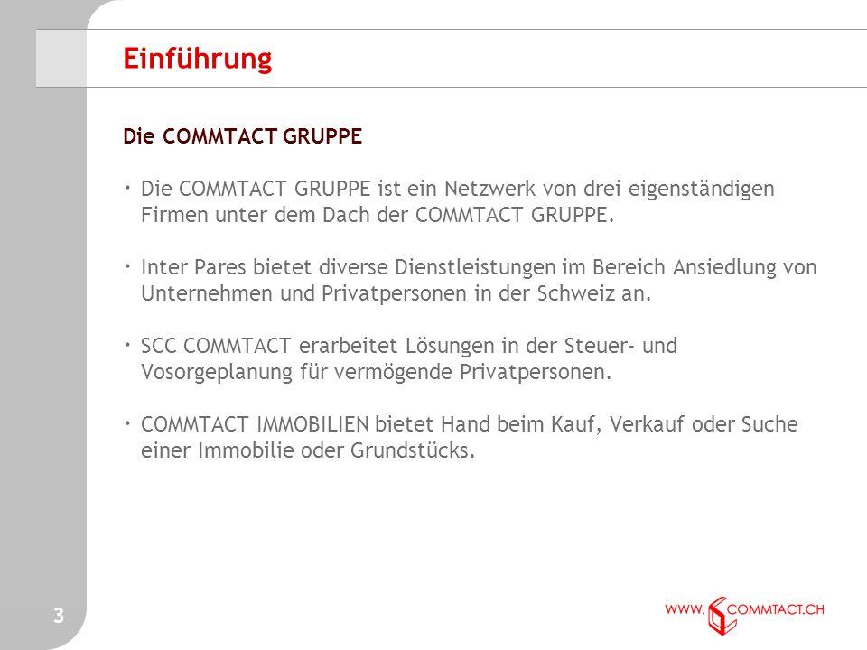 3 Einführung Die COMMTACT GRUPPE · Die COMMTACT GRUPPE ist ein Netzwerk von drei eigenständigen Firmen unter dem Dach der COMMTACT GRUPPE.