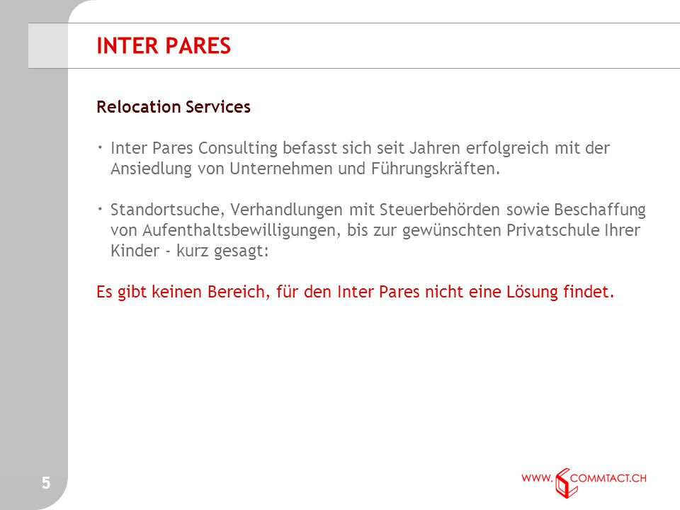 - Relocation Service INTER PARES 4
