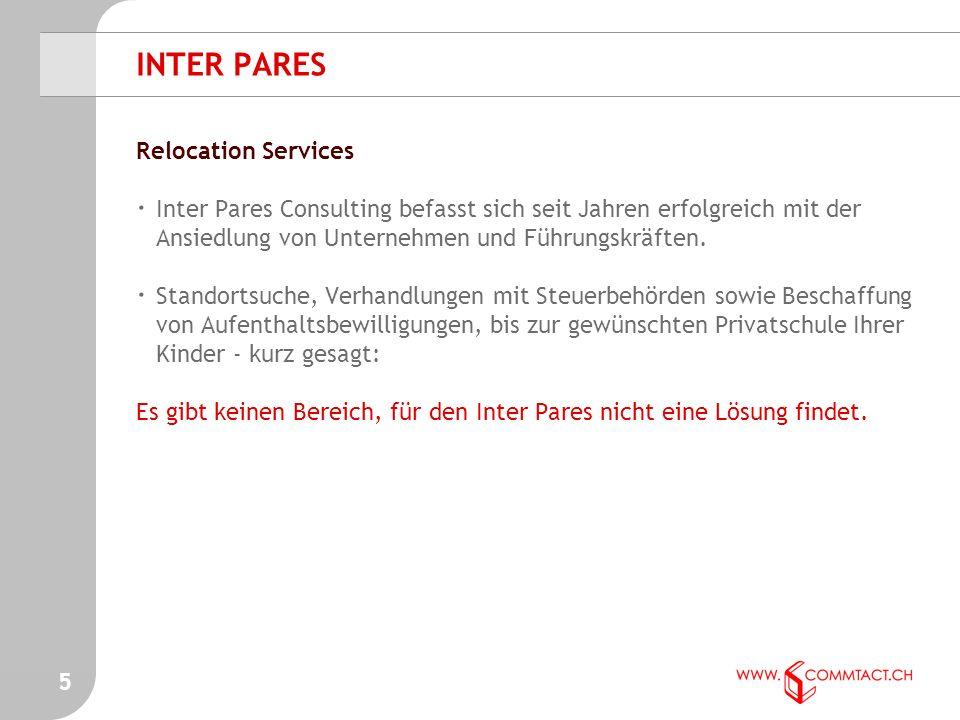 5 Relocation Services · Inter Pares Consulting befasst sich seit Jahren erfolgreich mit der Ansiedlung von Unternehmen und Führungskräften.