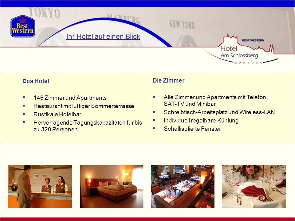 Das Hotel 146 Zimmer und Apartments Restaurant mit luftiger Sommerterrasse Rustikale Hotelbar Hervorragende Tagungskapazitäten für bis zu 320 Personen