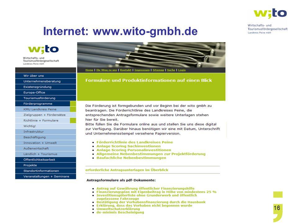 16 Internet: www.wito-gmbh.de
