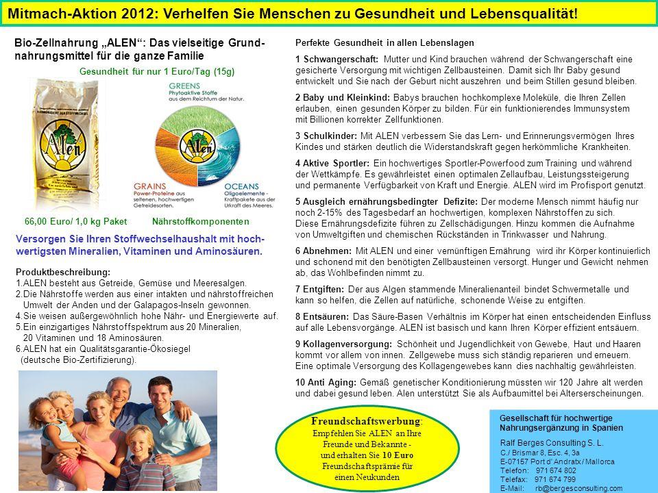 Mitmach-Aktion 2012: Verhelfen Sie Menschen zu Gesundheit und Lebensqualität.
