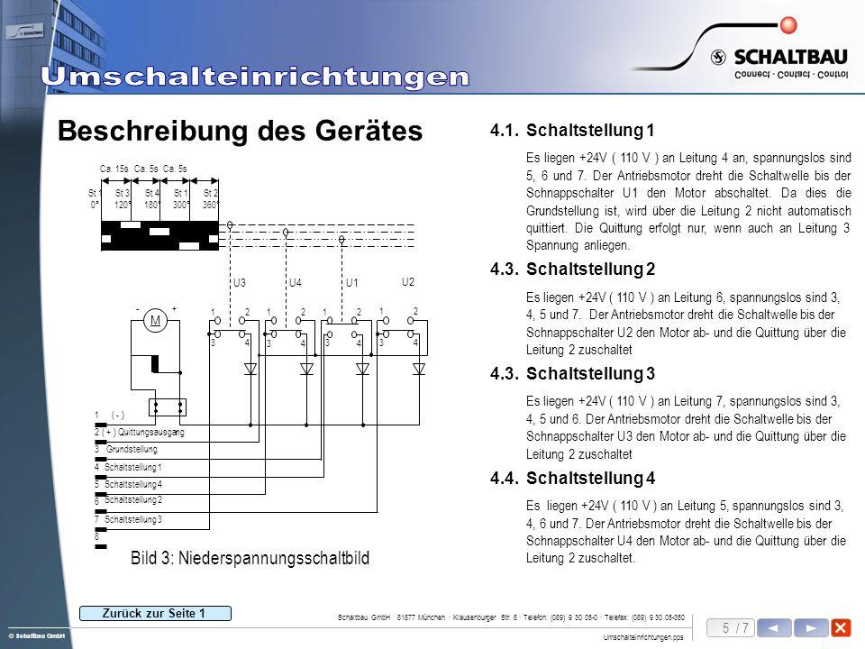 6 / 7 Umschalteinrichtungen.pps Schaltbau GmbH · 81677 München · Klausenburger Str.