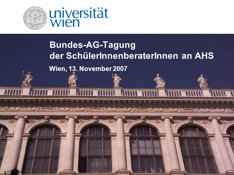 Bundes-AG-Tagung der SchülerInnenberaterInnen an AHS Wien, 13. November 2007