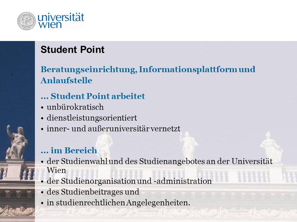 Student Point Beratungseinrichtung, Informationsplattform und Anlaufstelle...