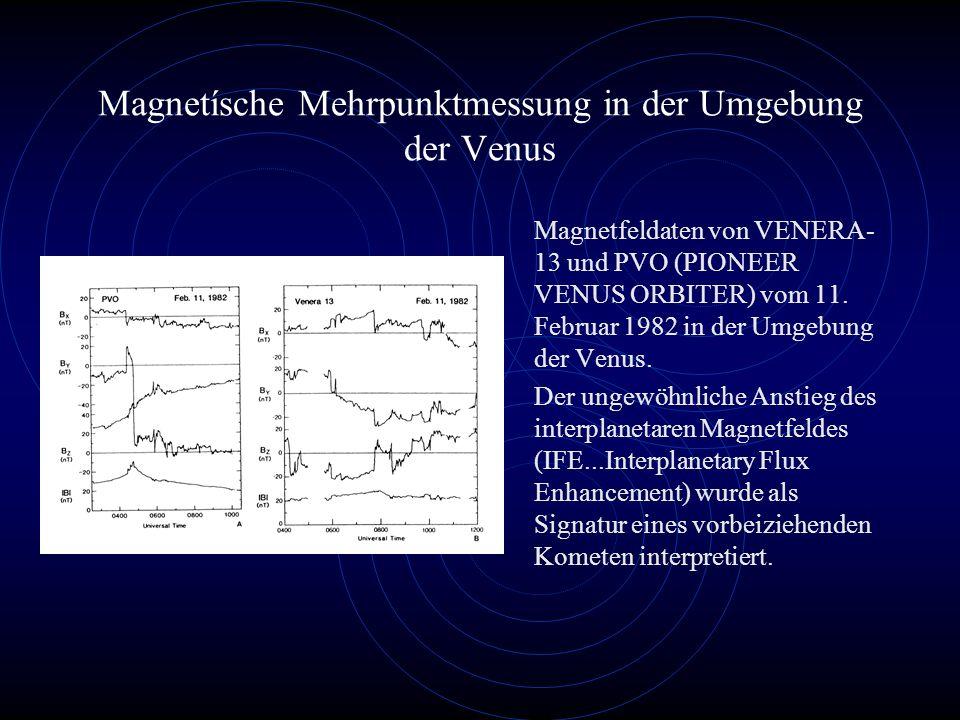 Magnetísche Mehrpunktmessung in der Umgebung der Venus Magnetfeldaten von VENERA- 13 und PVO (PIONEER VENUS ORBITER) vom 11.