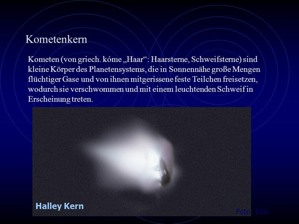 Kometenkern Foto: ESA Kometen (von griech.