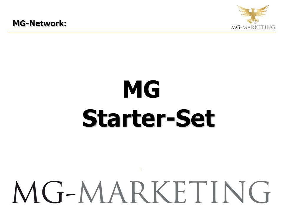 MG-Network: Starter-Set Starter-Set MG